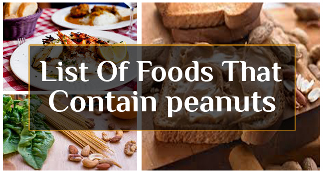 List Of Foods That Contain Peanuts Allergy Symptoms Org